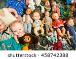 Sale Of Old Dolls At A Flea...