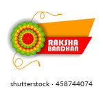 happy raksha bandhan  indian... | Shutterstock .eps vector #458744074