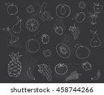 drawing on the blackboard.... | Shutterstock .eps vector #458744266