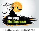 halloween banners.grunge styled ...   Shutterstock .eps vector #458754730