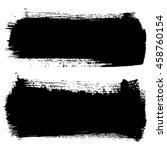 set of hand drawn brushstrokes...   Shutterstock .eps vector #458760154