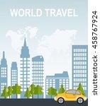 travel illustration design... | Shutterstock .eps vector #458767924