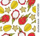 fresh fruits icon hand drawn... | Shutterstock .eps vector #458769280