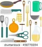 icons kitchen supplies isolated ...
