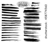 black ink vector stains and... | Shutterstock .eps vector #458774560