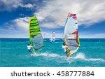 windsurfing | Shutterstock . vector #458777884