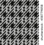 knitted vector seamless pattern ... | Shutterstock .eps vector #458779858