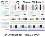 vector illustration   planner... | Shutterstock .eps vector #458784904