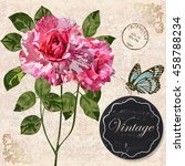 romantic card vintage... | Shutterstock .eps vector #458788234