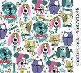 cat dog | Shutterstock .eps vector #458791348