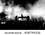 dj musician band in black and... | Shutterstock . vector #458794336