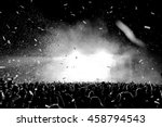 black and white confetti... | Shutterstock . vector #458794543