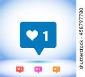vector icon like    Shutterstock .eps vector #458797780