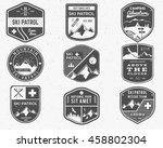 set of ski club  patrol labels. ... | Shutterstock . vector #458802304