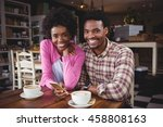 portrait of happy young couple... | Shutterstock . vector #458808163