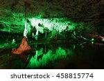 Colored Punkva Cave In The...