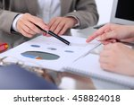 group of business people at...   Shutterstock . vector #458824018