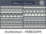 lacy scrapbook design borders.... | Shutterstock .eps vector #458832094