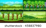 game backgrounds vector set.... | Shutterstock .eps vector #458837980