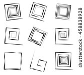 set of 9 different concentric... | Shutterstock . vector #458838928