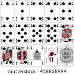 Poker Cards Spade Set Two Colo...