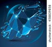 perspective digital technology... | Shutterstock . vector #458839858