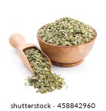 mate tea in a wooden bowl... | Shutterstock . vector #458842960