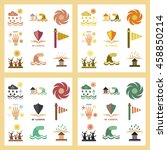 assembly flat icons natural... | Shutterstock .eps vector #458850214