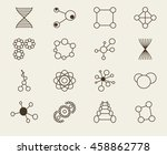 set of icons molecule theme... | Shutterstock .eps vector #458862778