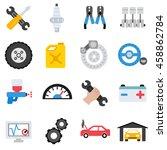 car service maintenance icons... | Shutterstock .eps vector #458862784