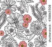 flower pattern | Shutterstock .eps vector #458865508