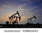 the oil pump  | Shutterstock . vector #458865643