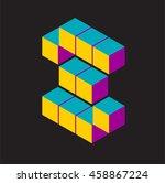 isometric vector letter s | Shutterstock .eps vector #458867224
