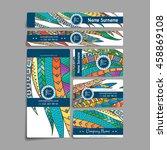 set of vector design templates. ... | Shutterstock .eps vector #458869108