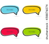 set hand drawn speech bubble.... | Shutterstock .eps vector #458876074