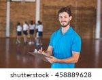 portrait of sports teacher