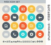 web icon set. multicolored...