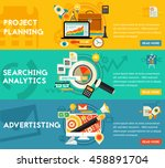 planning searching analytics... | Shutterstock .eps vector #458891704