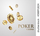 chips  the concept of a casino. | Shutterstock .eps vector #458891824