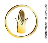 gold corn icon.  raster version | Shutterstock . vector #458898220