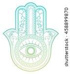 elegant ornate hamsa hand of... | Shutterstock .eps vector #458899870