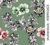 watercolor seamless pattern... | Shutterstock . vector #458901823