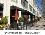 Small photo of Dining and retail options abound in the Grove Arcade district of Asheville, North Carolina.