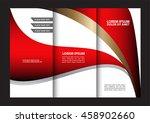 vector tri fold brochure design.... | Shutterstock .eps vector #458902660