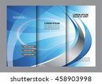 vector empty tri fold brochure... | Shutterstock .eps vector #458903998