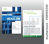 brochure flyer layout in a4... | Shutterstock .eps vector #458905240