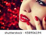 beautiful woman.make up | Shutterstock . vector #458906194