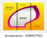 tri fold business brochure... | Shutterstock .eps vector #458907910