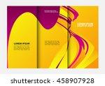 vector business brochure... | Shutterstock .eps vector #458907928
