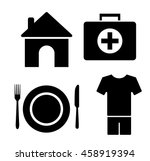 4 basic human needs icon set